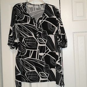 Beautiful  black and white design blouse